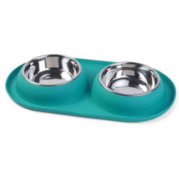 Twin Bowl Feeding Tray S/S