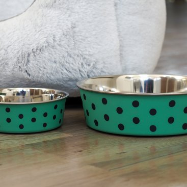 Green Polka 14cm Bowl