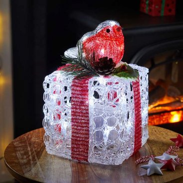 InLit Ice Faux Gift Box - Robin