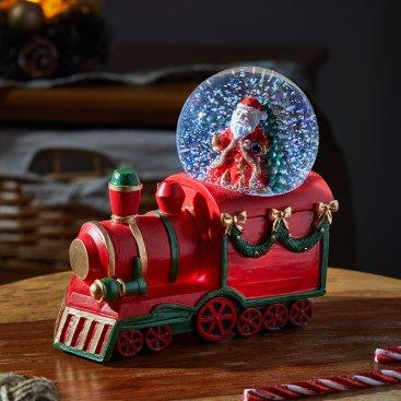 All Aboard! Santa Snow Sphere 8cm