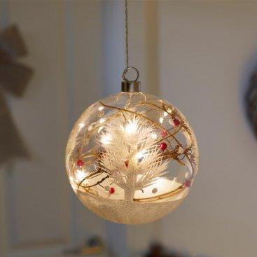 15cm CrystaLlight Alpine Orb 10 LEDs
