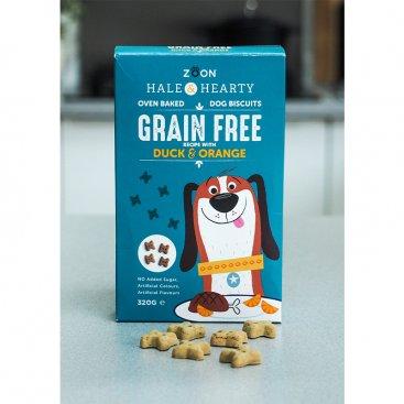 Hale & Hearty Duck & Orange Grain Free Biscuits 320g