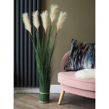Faux Bouquet - White Pampas 120cm
