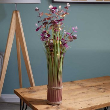 Faux Bouquet - In-Lit Eucalyptus - Violet