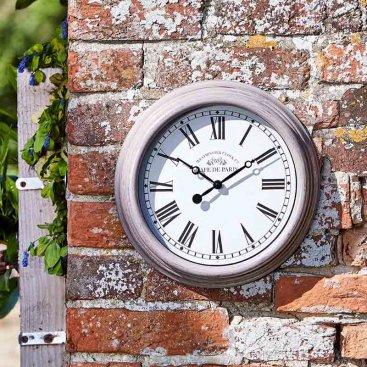 Biarritz 12in Wall Clock Grey