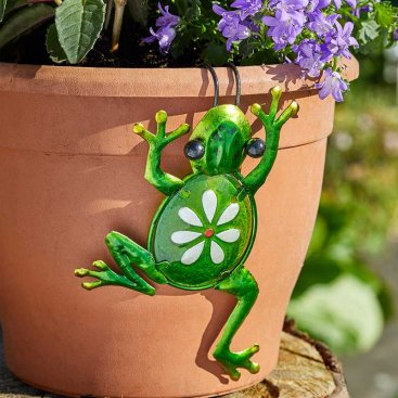 Fancy Frog Pot Hanger