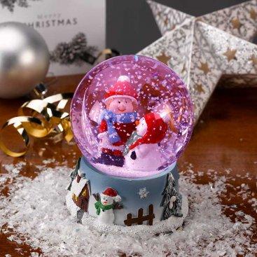 Inlit Snow Spheres 8cm