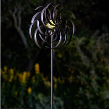 Spiro Wind Spinner with Solar Crackle Ball