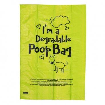 Degradable Poop Bags - 15 Pack, 1 Roll