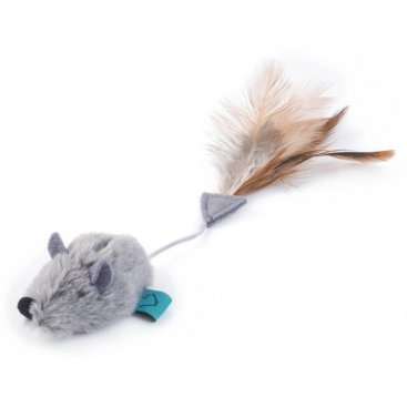 Nip-it Catnip Grey Mouse & Feather