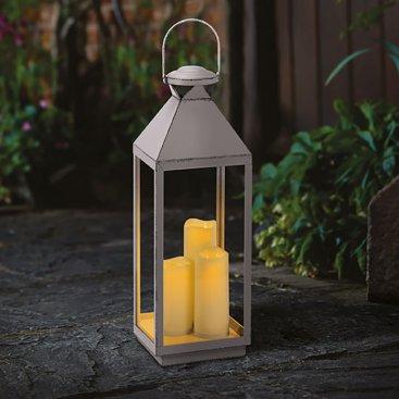 Dove-Grey Oslo Lantern