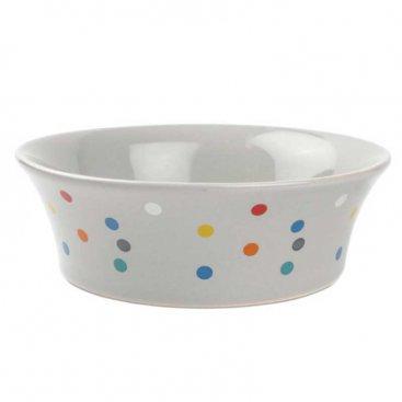 15cm Flared Polka Dot Ceramic Bowl