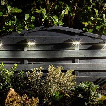 Premier Wall, Fence & Post Light, 4pk, 10L