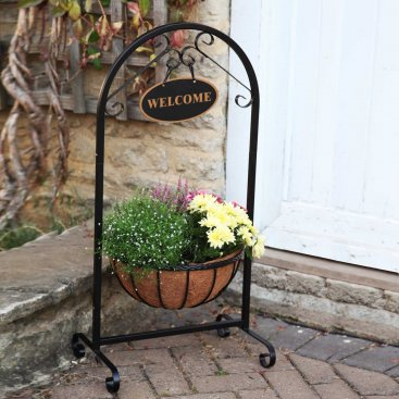 14in Saxon Basket Welcome Planter