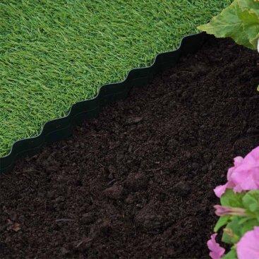 Plastic Lawn Edging - 10cm x 10m