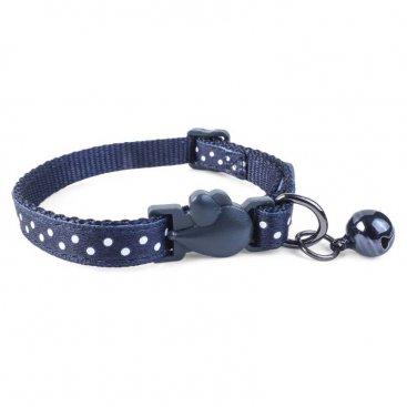 WonderLust Cat Collar - Navy Polka