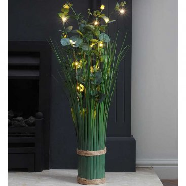 Faux Bouquet - In-Lit Eucalyptus - Verde