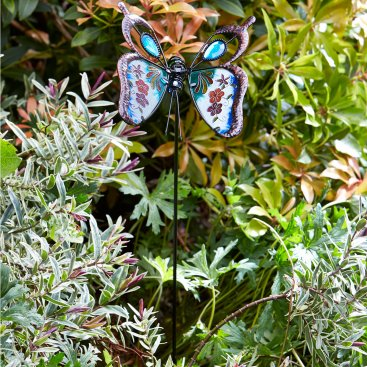 Butterfly Brilliance Border Stake, Blue