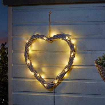 Solar In-Lit Firefly Heart