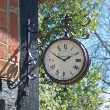 Marylebone Station Wall Clock & Thermometer 8in