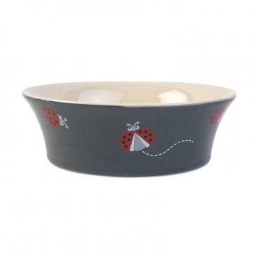 Flared Ladybirds 15cm Ceramic Bowl