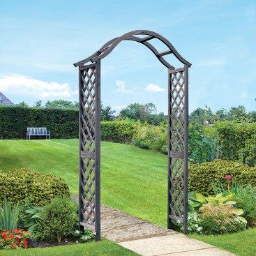 Woodland Garden Arch - Slate, FSC 1