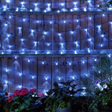 Ultra Solar String Lights,100 Orbs