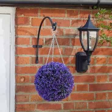 Vivid Violet Topiary Ball