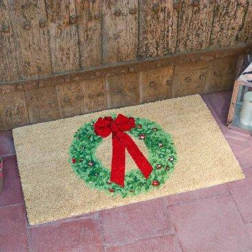 Christmas Wreath Decoir Mat - 45x75cm