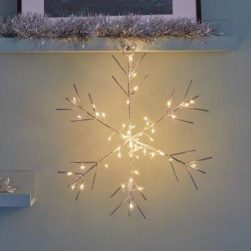 Sparkly Snowflake Silhouette