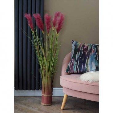 Faux Bouquet - Purple Pampas 120cm