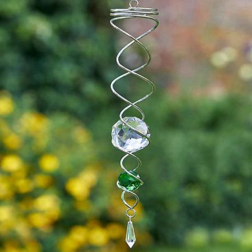 Green Spinning Double Helix