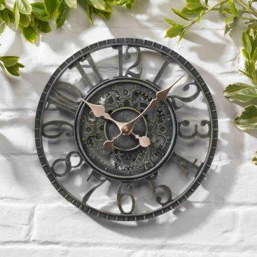 Newby Mechanical Wall Clock 12in – Verdigris