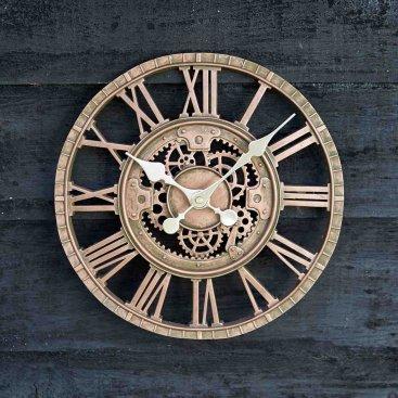 Newby Mechanical Wall Clock 12in - Bronze