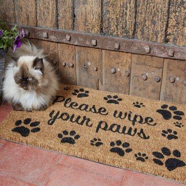 Wipe Your Paws Decoir Mat 75x45cm