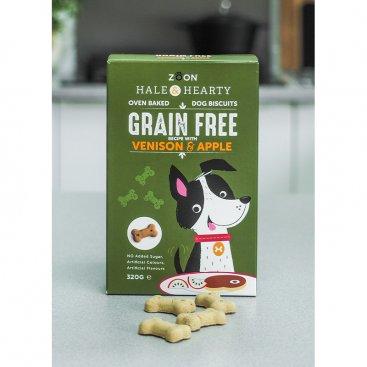 Hale & Hearty Venison & Apple Grain Free Biscuits 320g