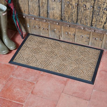 Opti-Mat Chestnut Chequered - Rubber Backed 75x45cm