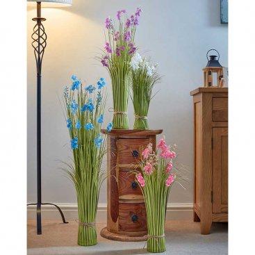 Faux Bouquet - True Blue, 90cm