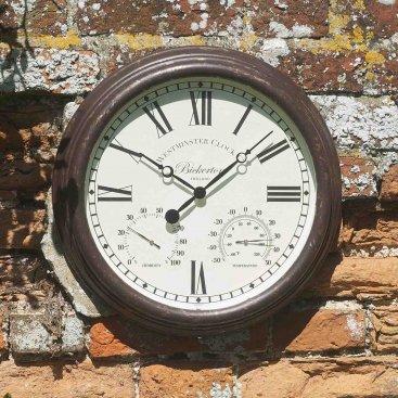 Bickerton Wall Clock & Thermometer 15in