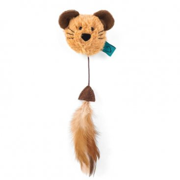 Nip-it Catnip Mouse Head & Feather