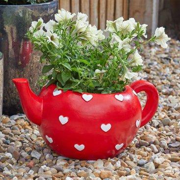 Teapot Heart Planter