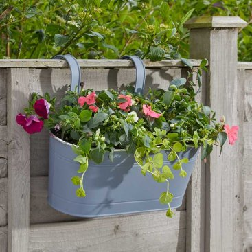 12in Fence & Balcony Hanging Planter - Slate