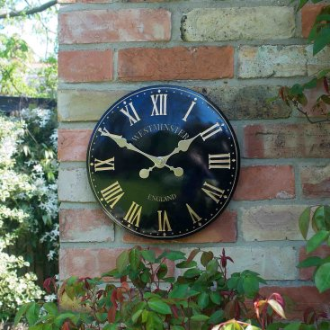 Westminster Tower Wall Clock 12in - Black