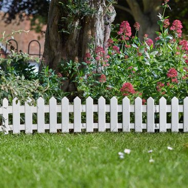 PicketFence, White, 20cm x 1.6m