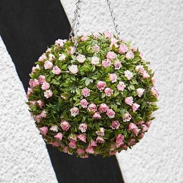 Topiary Pink Rose Ball 30cm