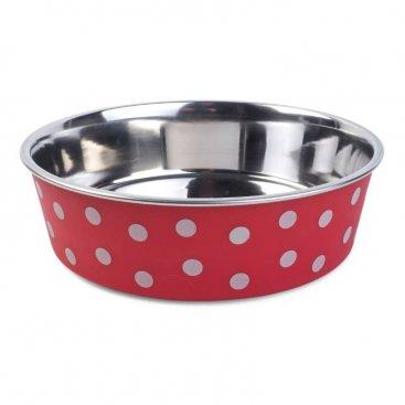 Red Polka 21cm Bowl