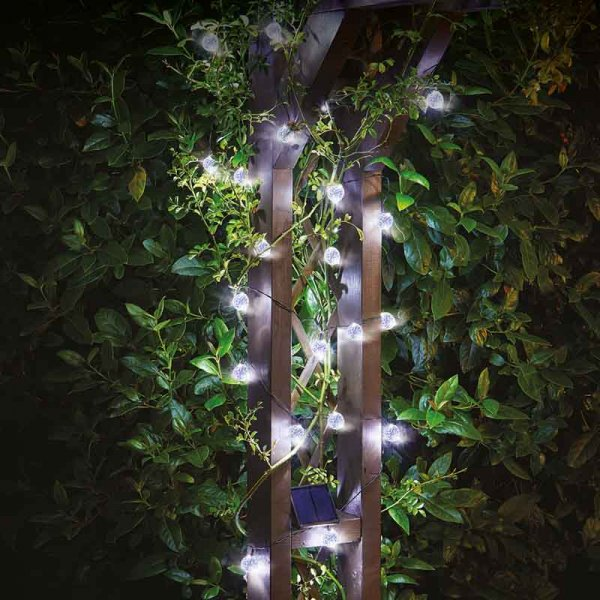Ultra Solar String Lights, 25 Orbs