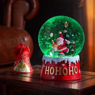Inlit Musical Snow Sphere 12cm