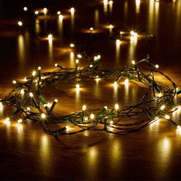 Eco String Lights - Warm White, 100 LEDs