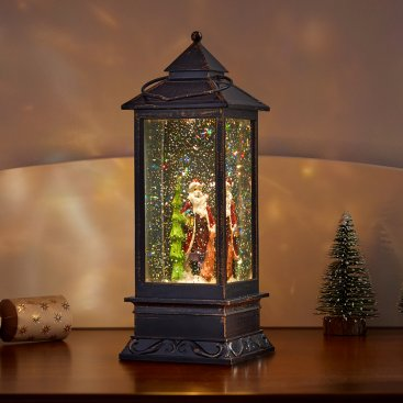 SnowSwirl Santa Lantern